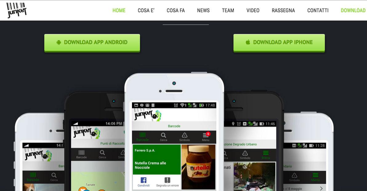 Junker è la App che ti risolve tutti i dubbi sulla raccolta differenziata