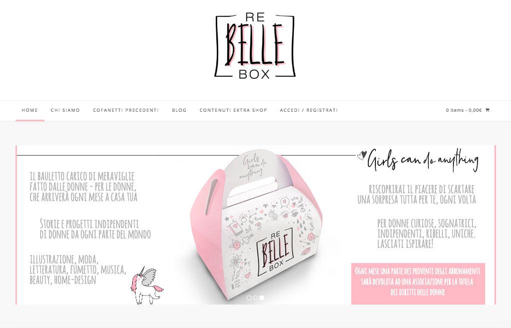 Re-Belle Box è un contenitore di idee e cretività tutto al femminile! Un bauletto carico di meraviglie fatto dalle donne – per le donne.