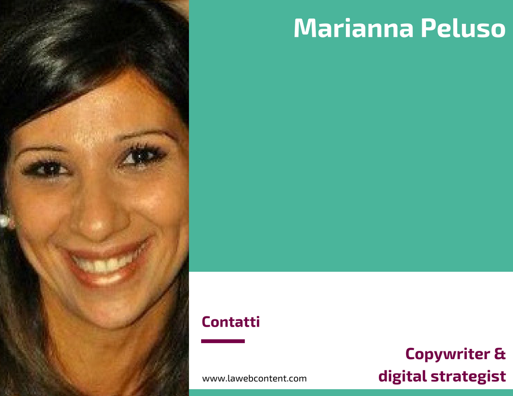 Marianna Peluso - Copywriter & digital strategist