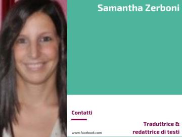 Samantha Zerboni mette nero su bianco per te, quello che vuoi raccontare