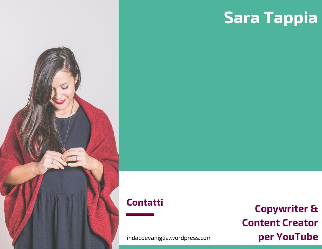 Sara Tappia - Copywriter, Esperta di Comunicazione Social e Content Creator per YouTube