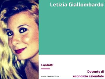 Letizia Giallombardo - Docente di economia aziendale