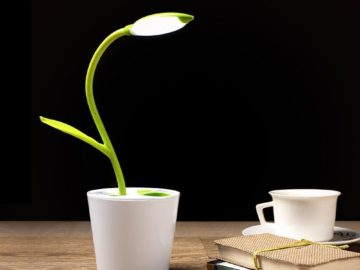 La lampada da tavolo che sembra un fiore è bella ed ecologica