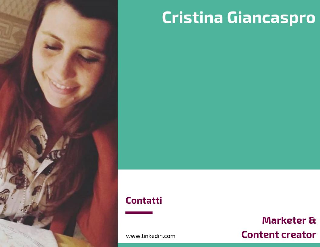 Cristina Giancaspro - Marketer & Content creator