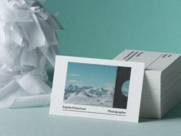 Scegli Moo per i tuoi biglietti da visita in cotone riciclato