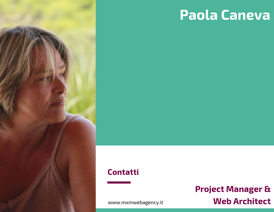 Paola Caneva - Project Manager e Web Architect