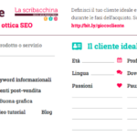 "Customer journey map creata da ""La Scribacchina"""
